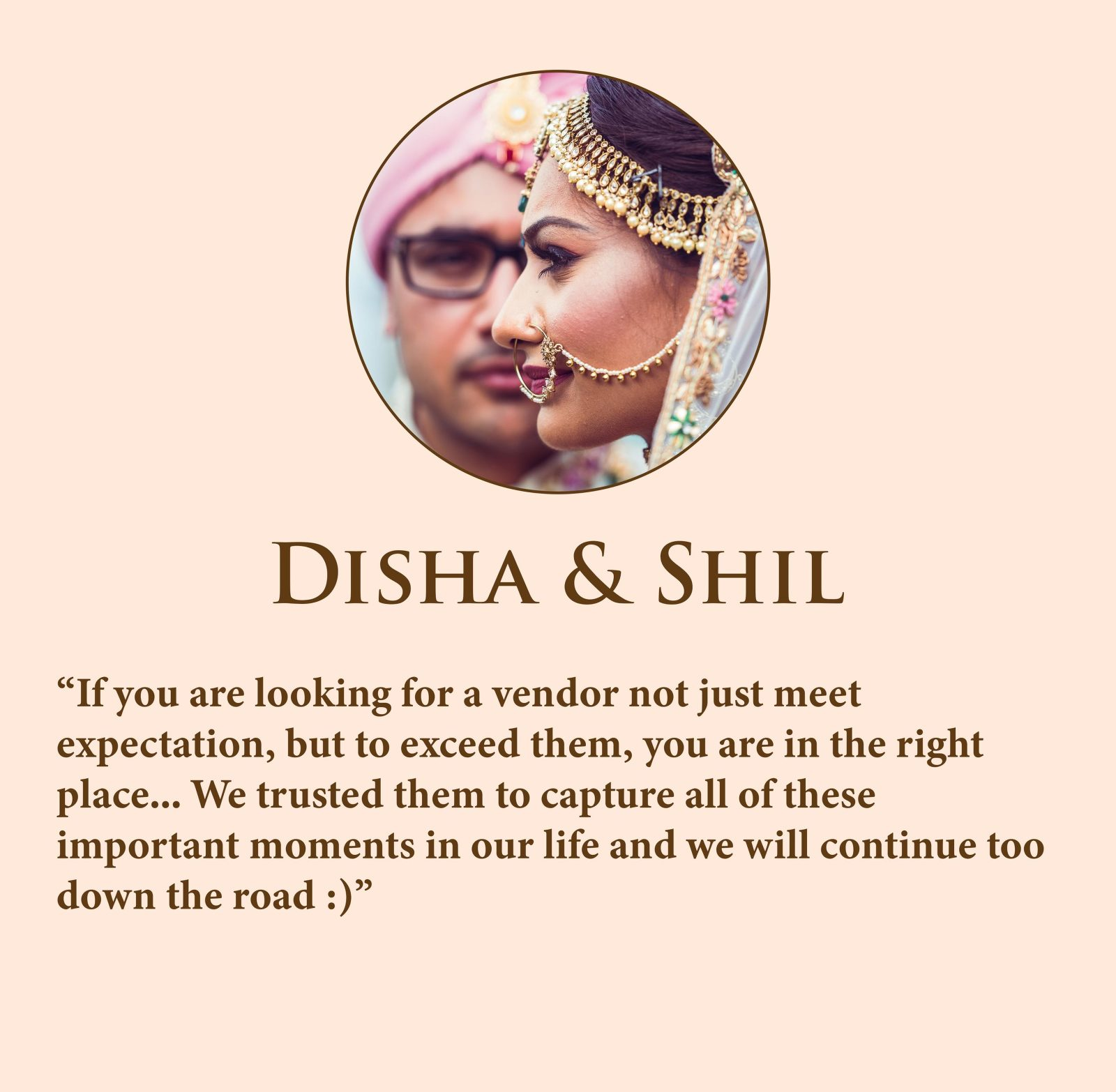 """""""If you are looking for a vendor not just meet expectation, but to exceed them, you are in the right place... We trusted them to capture all of these important moments in our life and we will continue too down the road :)"""""""