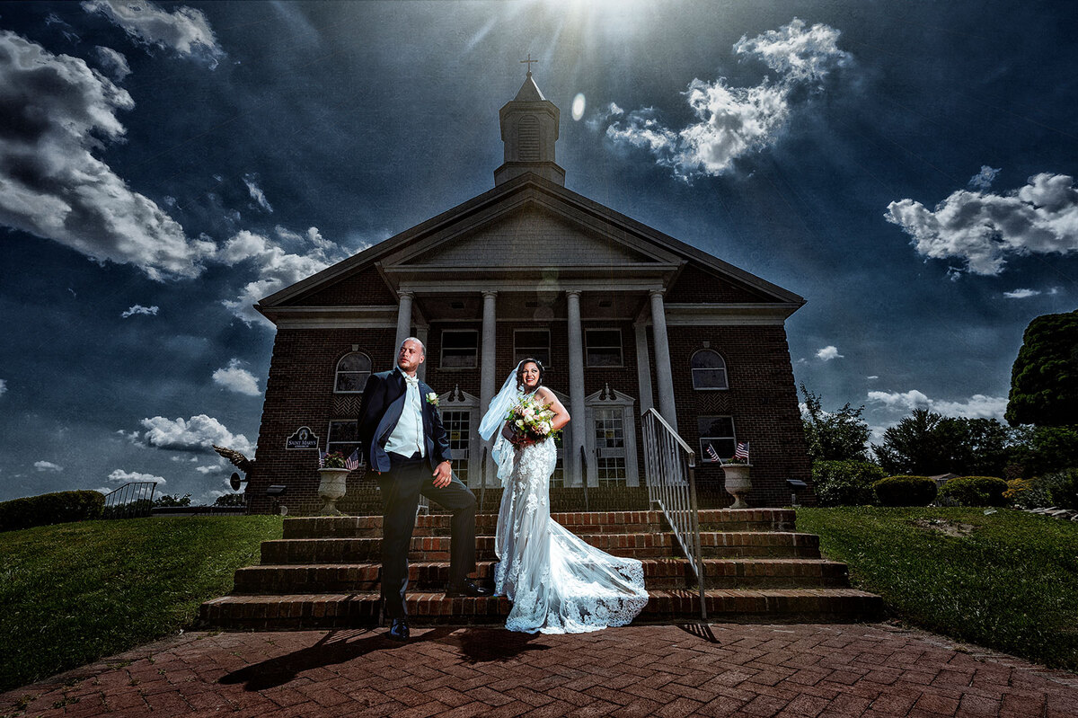 Rose & Josh In front of Church
